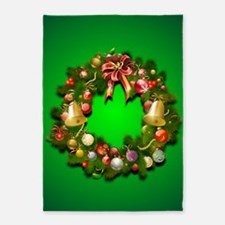 Xmas Wreath 5'x7'Area Rug
