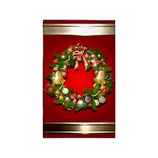 Xmas Wreath 3'x5' Area Rug