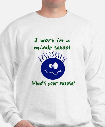 work in middle school Sweater