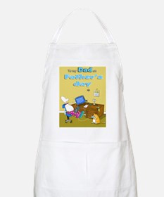 computer trouble fathers day dad Apron