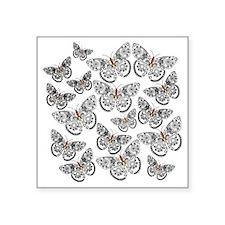 "butterflies-k Square Sticker 3"" x 3"""