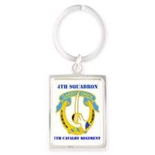 4-7TH CAV RGT WITH TEXT Portrait Keychain