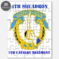4-7TH CAV RGT WITH TEXT Puzzle