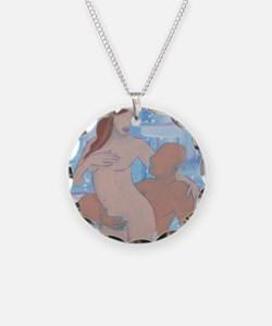 lovers painting tile Necklace
