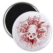 skull_grunge_red Magnet