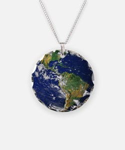 Nasa_blue_marble Necklace