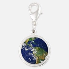 Nasa_blue_marble Silver Round Charm