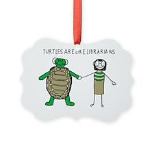 TurtlesLibrarians Ornament