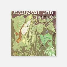 """cutout elfgirl logo Square Sticker 3"""" x 3"""""""