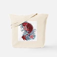 Koi Wave Tote Bag