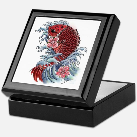 Koi Wave Keepsake Box