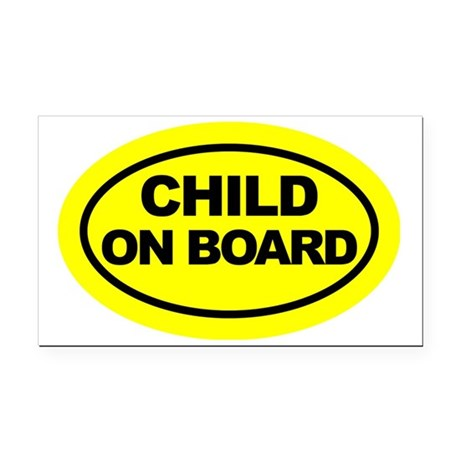 oval Rectangle Car Magnet