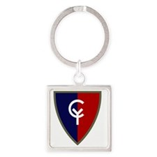 38th Infantry Division Square Keychain