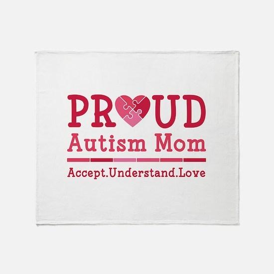 Proud Autism Mom Stadium Blanket