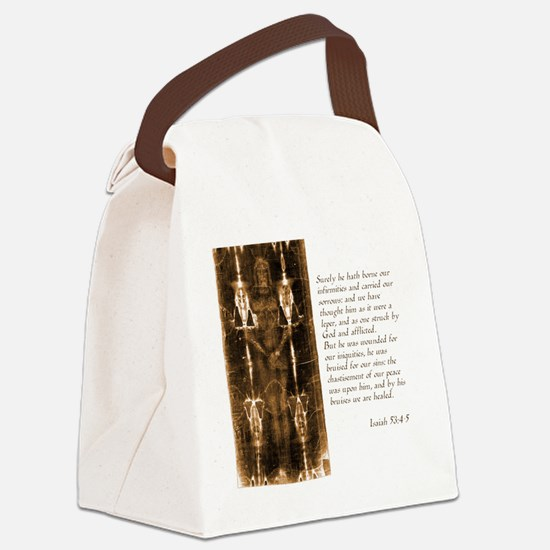 Isaiah 53-4-5 Canvas Lunch Bag