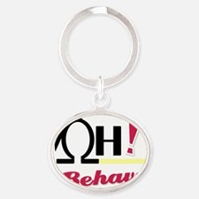 OH_Behave_32610_DogBowl-2 Oval Keychain