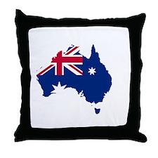 Australia (dark) Throw Pillow