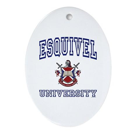 ESQUIVEL University Oval Ornament
