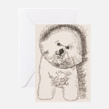 Bichon_Frise_KlineSq Greeting Card