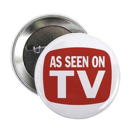 "AS SEEN ON TV 2.25"" Button (100 pack)"