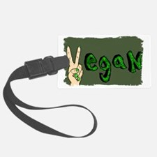 vegan green wash out Luggage Tag