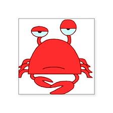 "Crabby Crab HiRez Square Sticker 3"" x 3"""