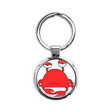 Crabby Crab HiRez Round Keychain