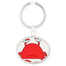 Crabby Crab HiRez Oval Keychain