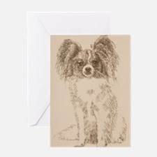 Papillon_KlineSq Greeting Card