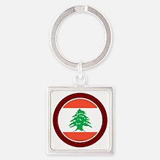 btn-flag-lebanon Square Keychain