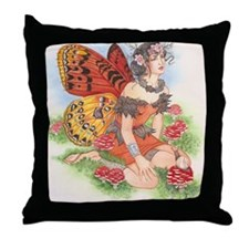 Faerie-Ring Faerie Throw Pillow