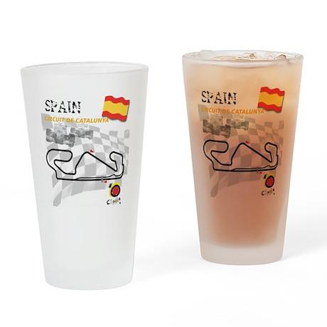 2-10x10spainblack Drinking Glass