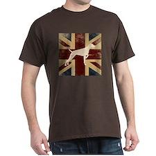 Standard Fit Round Neck - Vizsla On Union Jack