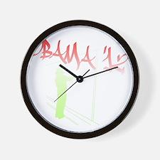 obamagraffittionwall2 Wall Clock