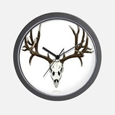 Mule deer skull mnt. Wall Clock