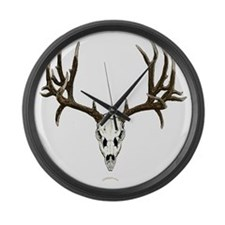 Mule deer skull mnt. Large Wall Clock