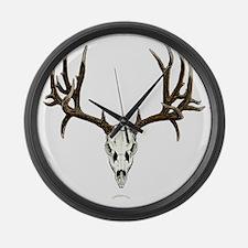 Mule deer skull mnt. Large Wall Clock