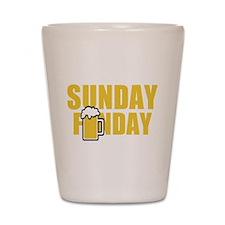 Sunday Funday Shot Glass