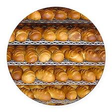 Fresh Bread Round Car Magnet