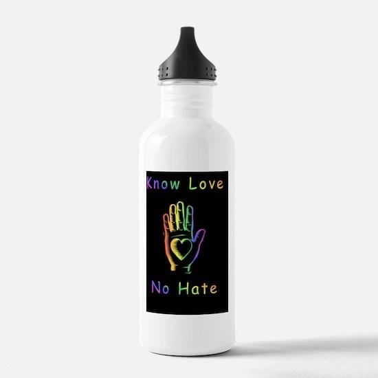Know Love 10x10 BlackB Water Bottle