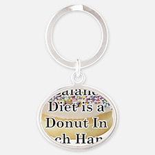 balanced donut Oval Keychain
