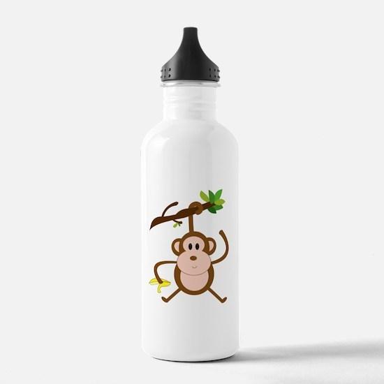 hanging monkey Water Bottle