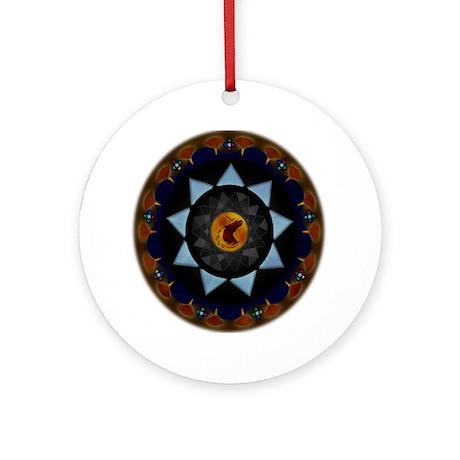 50012R-CorwinOfAmber Round Ornament