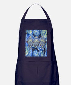 1Greetings from outer space gr. card  Apron (dark)