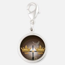 KingKings1 Silver Round Charm