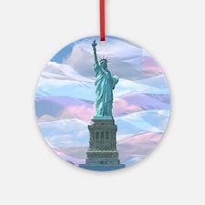 Liberty Round Ornament