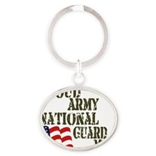 Army National Guard Mom Oval Keychain