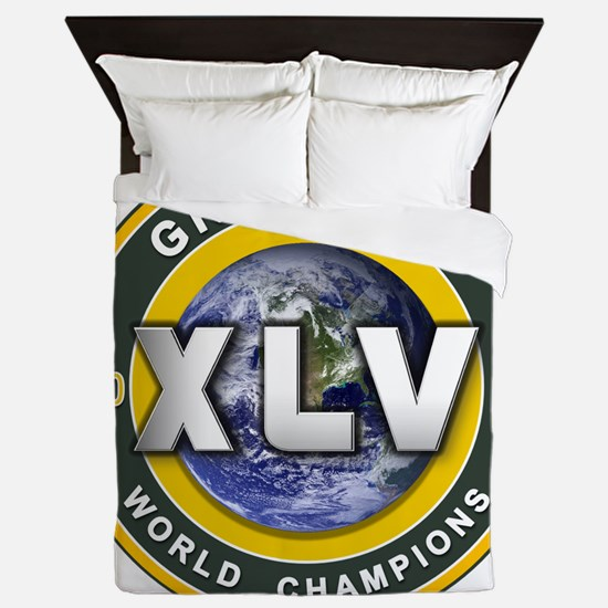 Green Bay 2010 World Champs Queen Duvet