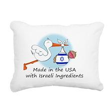 stork baby isr 2 Rectangular Canvas Pillow
