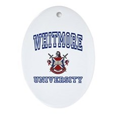 WHITMORE University Oval Ornament